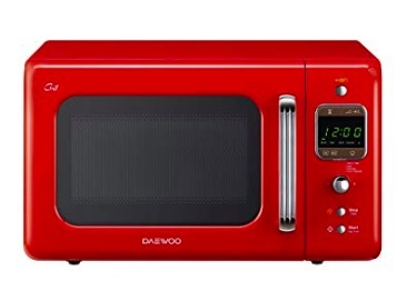 microondas rojo