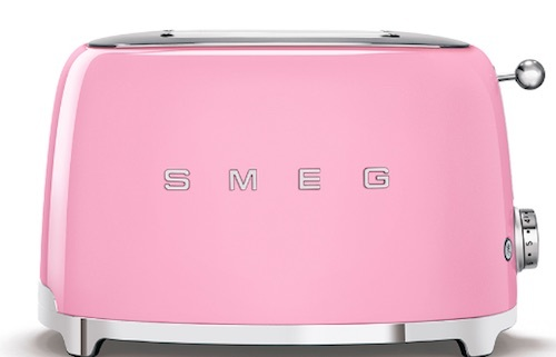 tostadora smeg rosa