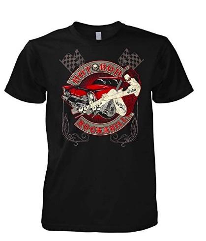 camiseta rockabillly hombre