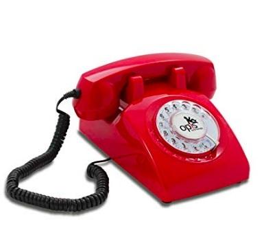 telefono retro rojo